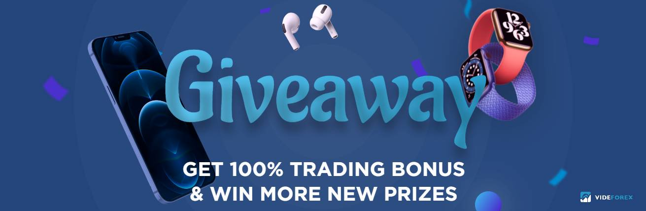 100% Bonus and Giveaway Prizes – VideForex