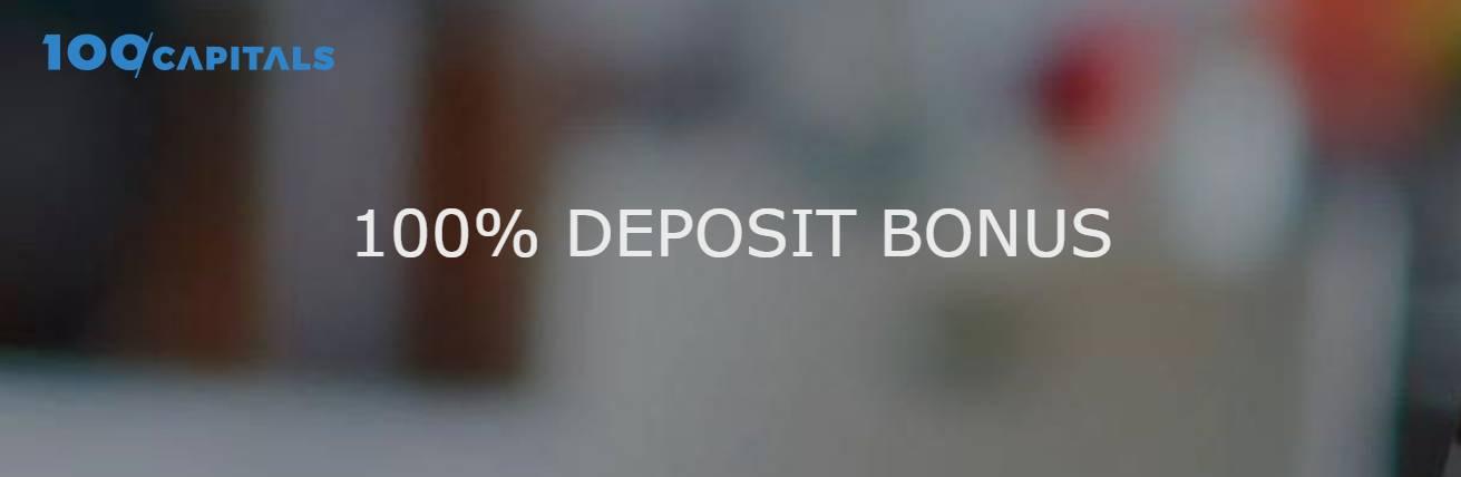 100% Deposit Bonus – 100 CAPITALS