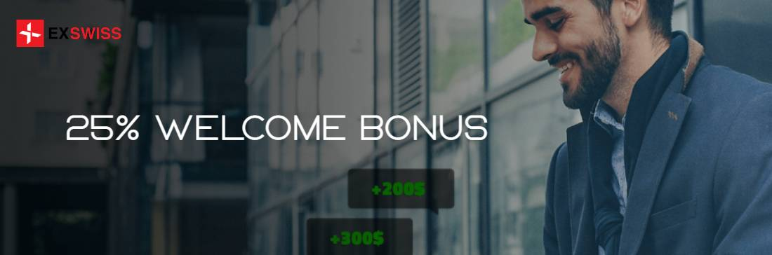 25% Welcome Bonus – EXSwiss