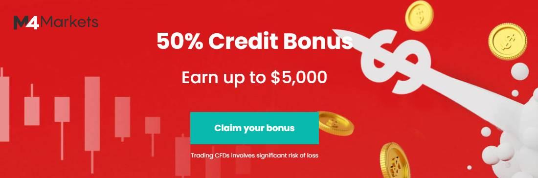 50% Credit Bonus – M4Markets