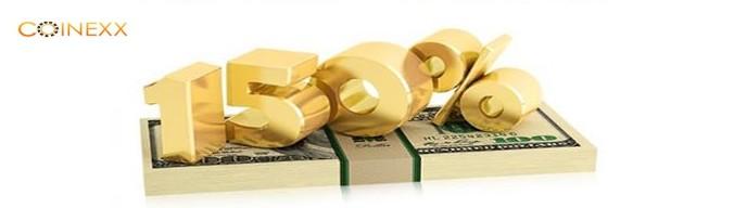 150% Instant Deposit Bonus – Coinexx