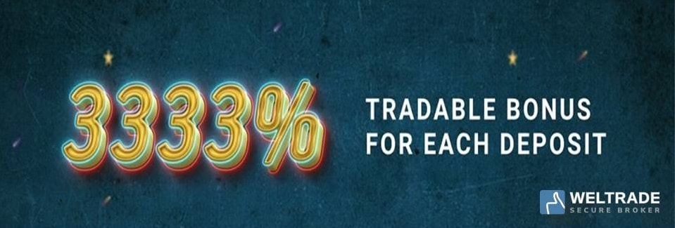 Bonus Up to 3333% – WelTrade