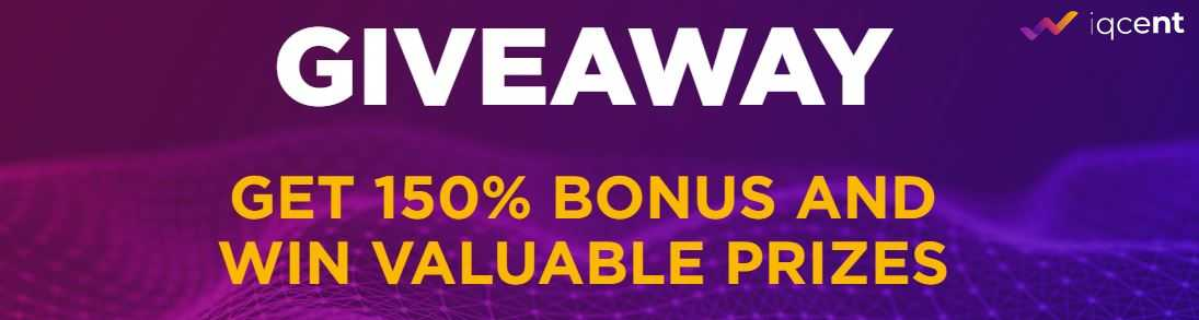 150% Bonus & Win Valuable Prizes – IQcent