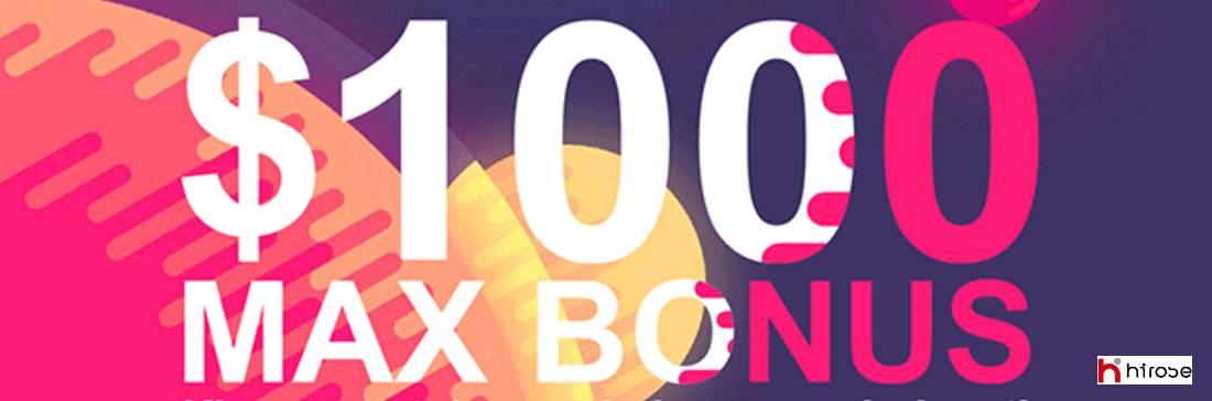MEGA Bonus 50% – Hirose Financial UK