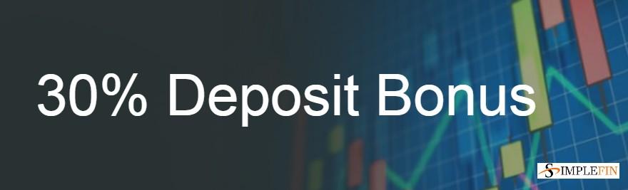 30% Deposit Bonus – SimpleFintech